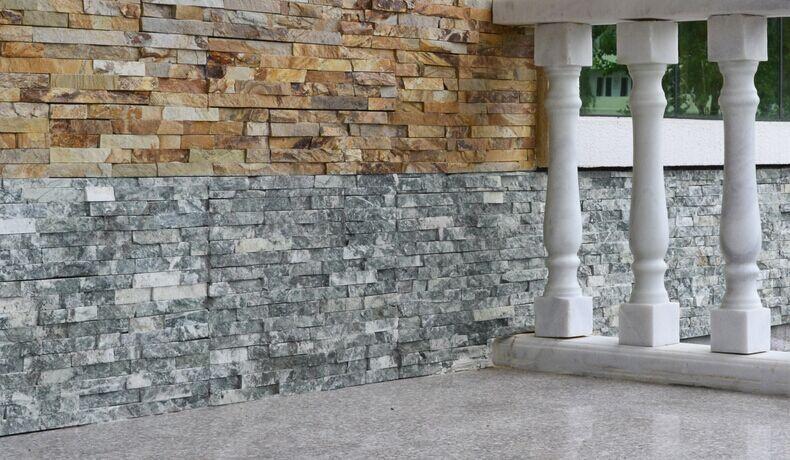 Emerald Green Marble Split Face Z Tile Cladding 29 99 Per M2